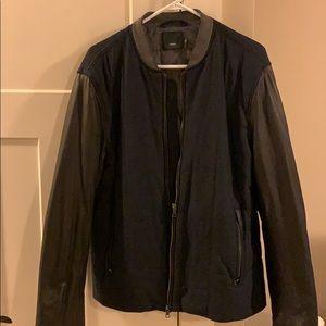 Vince navy/black contrast bomber jacket